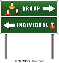 persone., segno, traffico, icone