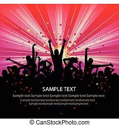 persone, set, flyer., vector., vettore, gruppo, ballo