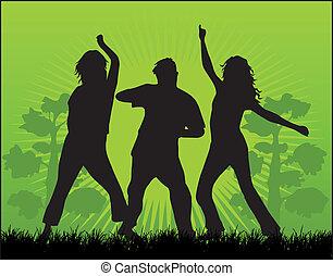 persone, silhouette, ballo