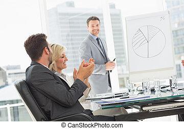 persone, ufficio, presentazione, affari