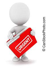 persone, urgente, consulta, 3d, bianco