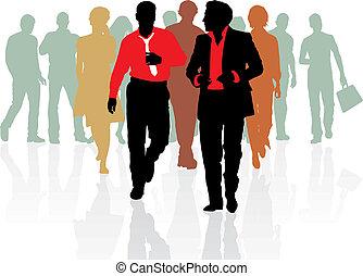 persone vendite, giovane, squadra