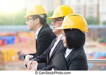 personel, zbudowanie, asian