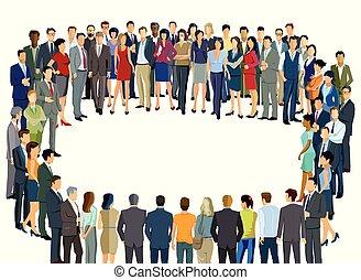 Personen-Gemeinschaft.eps - Group of people form a circle