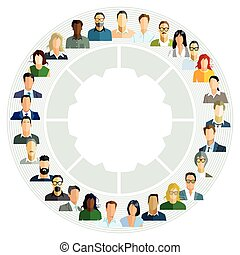 Personen-Kreis.eps - Employee planning, cooperation report