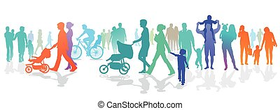 Personen und Familien.eps - Person group with families and...