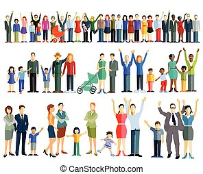 Personen und Gruppen.eps - Crowd people and groups