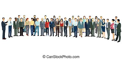 Personen Versammlung.eps - Group of people stand upright