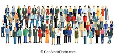Personen Versammlung.eps - a large group of people stand...