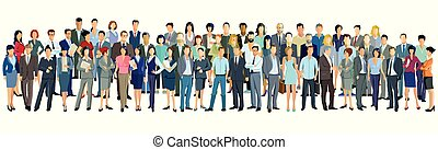 Personen-Vielfalt.eps - Large group of people on white...