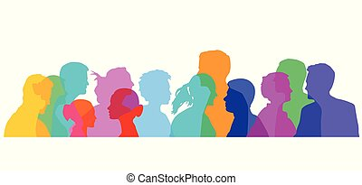 Personen von Seite.eps - Colorful group of people...