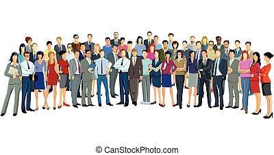 Personen Vorstellung.eps - a group of businessmen and...