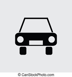 personenauto, pictogram