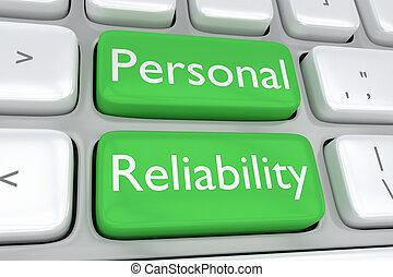 personlig, begrepp, pålitlighet