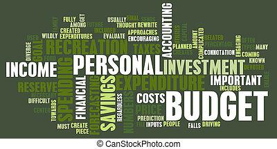 personlig, budget