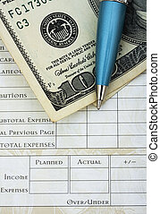 personlig, budgetering, din, finanser