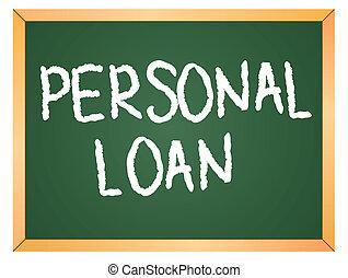 personlig, lån, citere