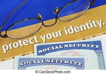 personlig, skydda, identitet