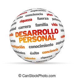 personlig, udvikling, glose, sphere, (in, spanish)