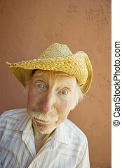 personne âgée, chapeau, homme, cow-boy