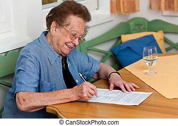 personne âgée, contrat, signes