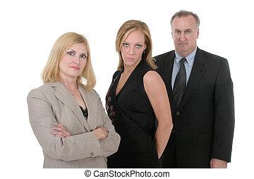 personne, équipe, 4, business, trois