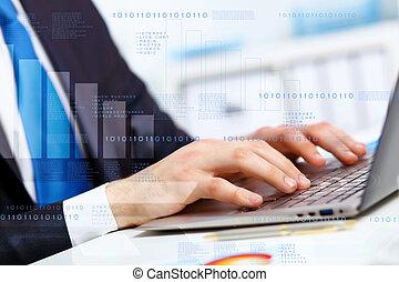 personne affaires, travailler ordinateur