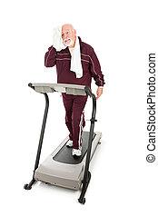 personne agee, épuiser, séance entraînement
