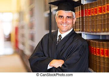 personne agee, armes traversés, diplômé