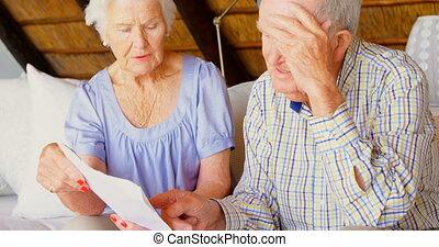 personne agee, autre, couple, sur, maison, confortable, vue,...