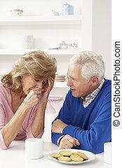 personne agee, consoler, homme, épouse