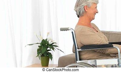 personne agee, conversation, couple