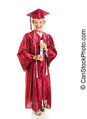 personne agee, dame, honneurs, diplômés