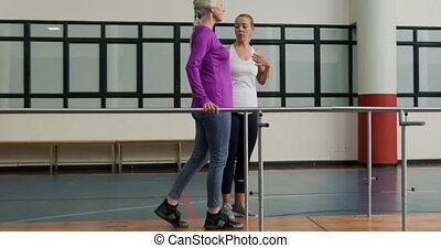 personne agee, fitness, santé