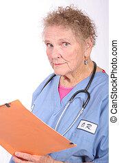 personne agee, infirmière