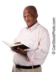 personne agee, livre, saint