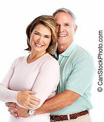 personne agee, love., couple, heureux