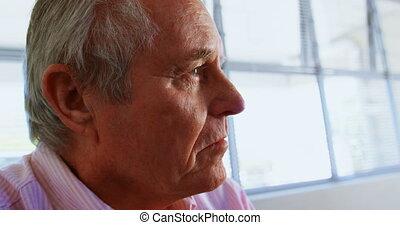 personne agee, maison, actif, délassant, caucasien, homme, ...