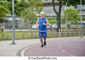 personne agee, marche