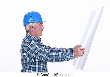 personne agee, projet architecte, regarder