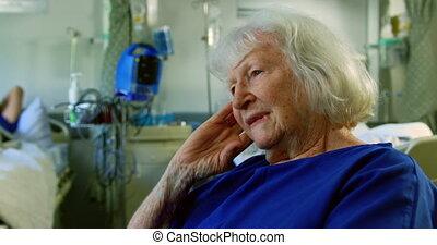 personne agee, pupille, délassant, patient, 4k
