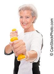 personne agee, séance entraînement