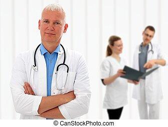 personne agee, sien, armes traversés, docteur