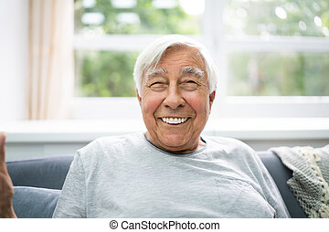 personne agee, vieux, cheveux, portrait, gris
