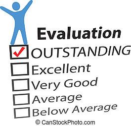 personne, célébrer, excellent, hr, évaluation