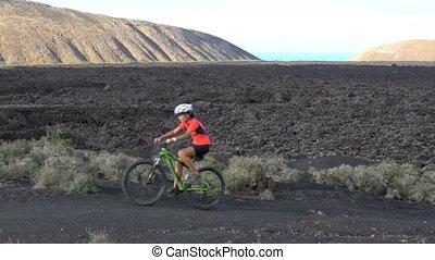 personne, cycliste, montagne, mtb, faire vélo, cyclisme, piste