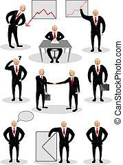 personne, différent, pose, business