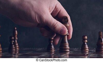 personne, en mouvement, morceau, échecs