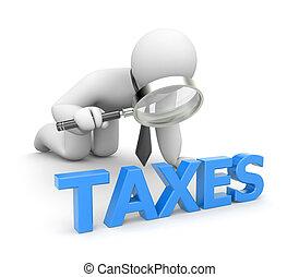 personne, examine, impôts