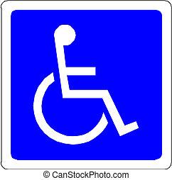 personne handicapée, signe